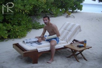 Max Biaggi relaxoval na Maledivách