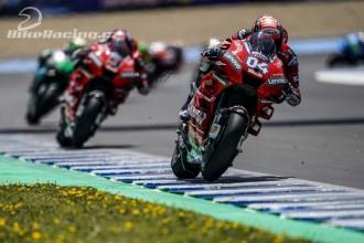 Obě Ducati těsně za pódiem