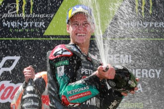 Quartararo slaví premiérové MotoGP pódium