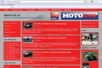 Nový web o motocyklových závodech