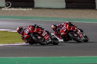 Petrucci a Dovizioso po testu v Kataru