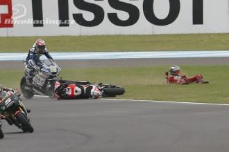 Ducati a Argentina? Dva pády....