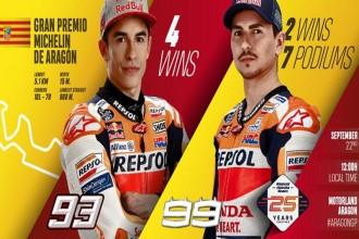 Marquez a Lorenzo před Aragonem