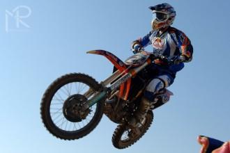 KTM připravená na motokros ve Valence