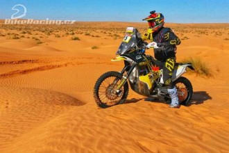 Jan Brabec na saharské Rally EL Chott