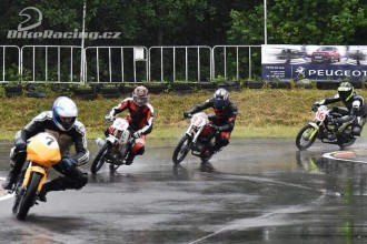 Ani silný déšť neodradil malé závodníky