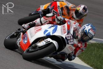 Nicky Hayden oslavil první pódium s Ducati