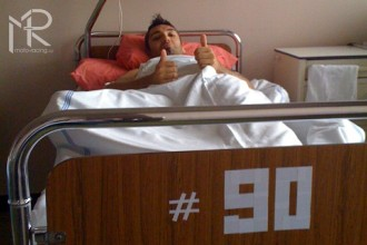 Michal Drobný po Mugellu v nemocnici