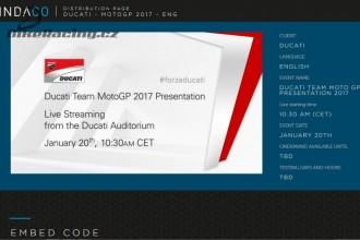 Online představení Ducati Teamu MotoGP