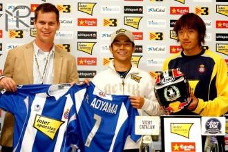 Aoyama s dresem Espanyolu