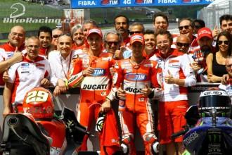 První řada pro jezdce Ducati