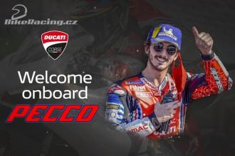 Francesco Bagnaia oficiálně za Team Ducati