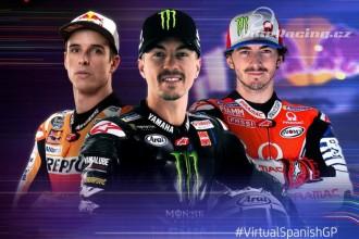 V čele virtuálního MotoGP trojice jezdců
