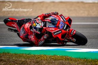První a druhá řada pro jezdce Ducati