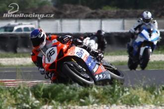 Jirka Brož spokojený s novým motocyklem