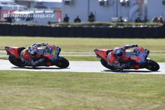 Obě Ducati bojovaly o podium