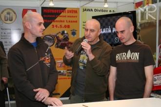 Výstava Motocykl 2008 - prezentace speedway
